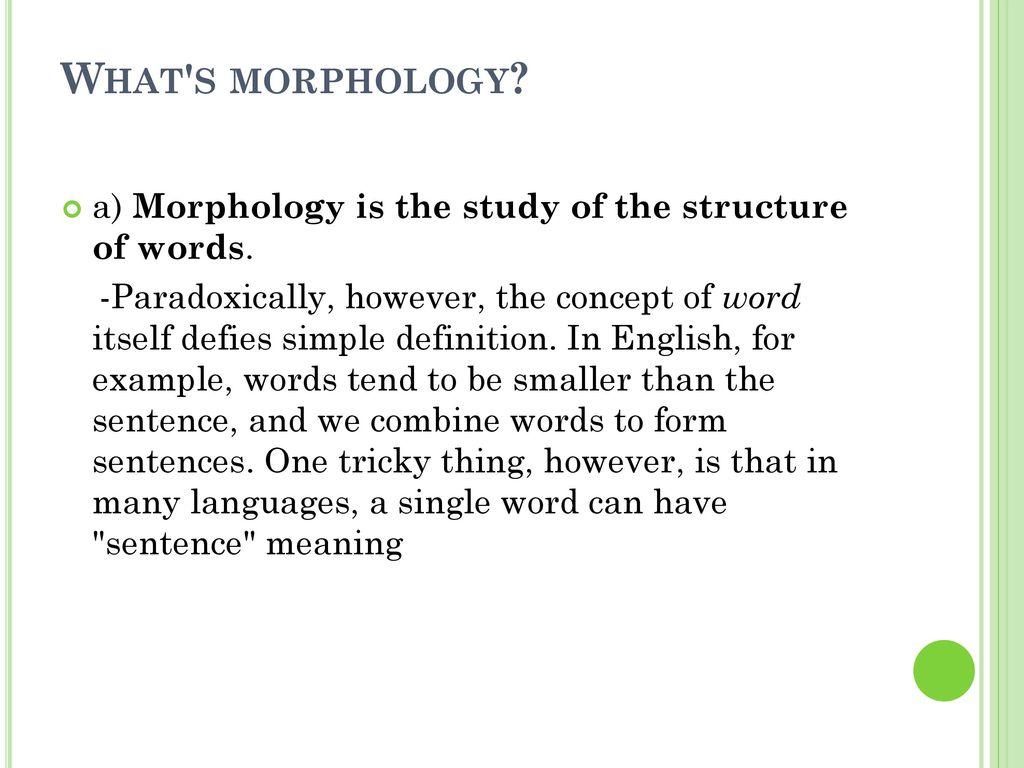 Morphology Linguistics Ppt Download