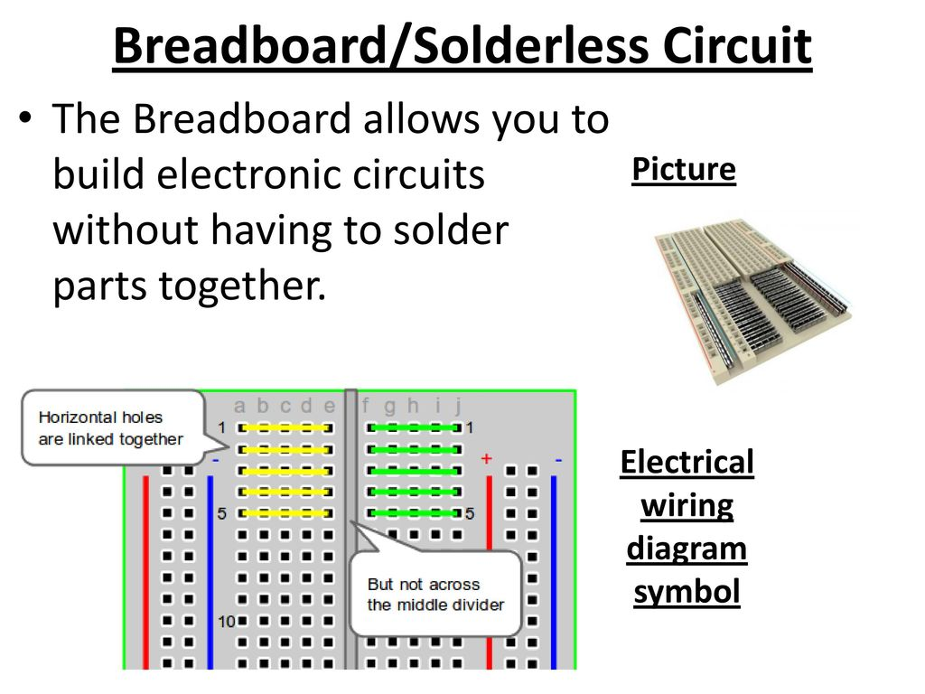 Electronics Part 4 Electrical Components Ppt Download Electronic Circuit For You Breadboard Solderless