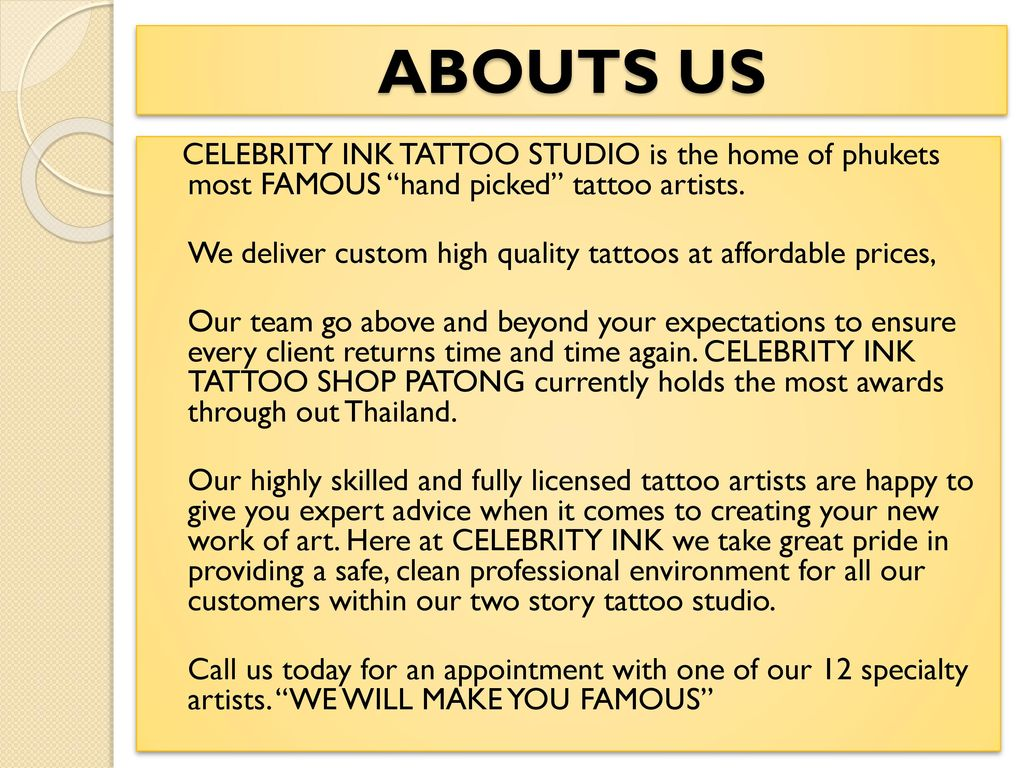 c3c7b0a6082ba ABOUTS US CELEBRITY INK TATTOO STUDIO is the home of phukets most ...