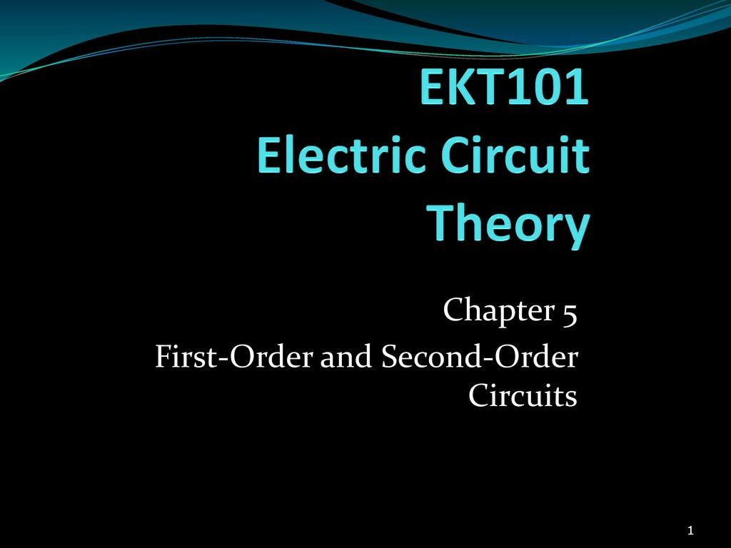 Ekt101 Electric Circuit Theory