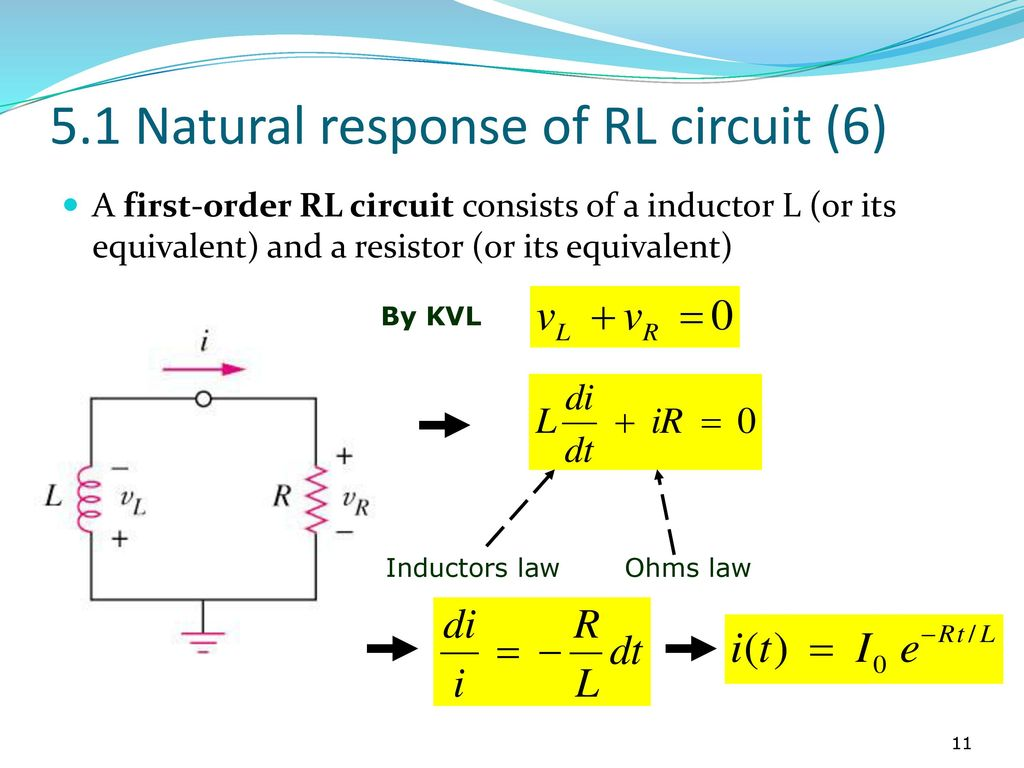 Ekt101 Electric Circuit Theory Ppt Download Resistive Series Parallel Rlc Graphic 51 Natural Response Of Rl 6