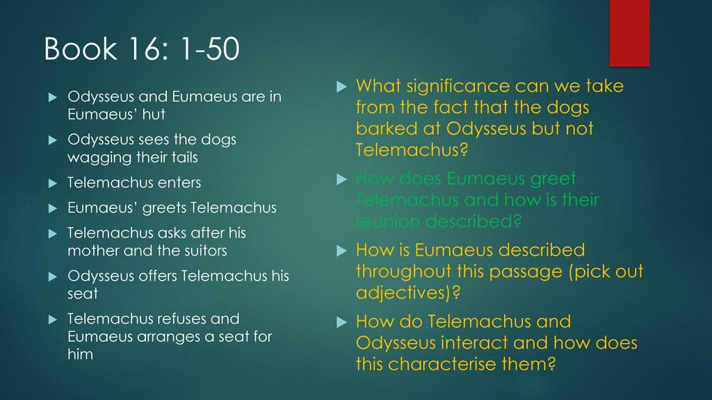 relationship between odysseus and telemachus