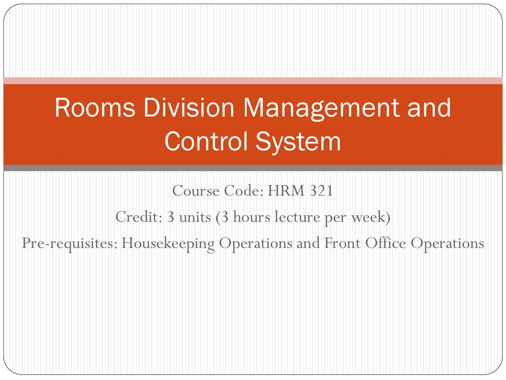Ppt rooms division management and control system powerpoint.