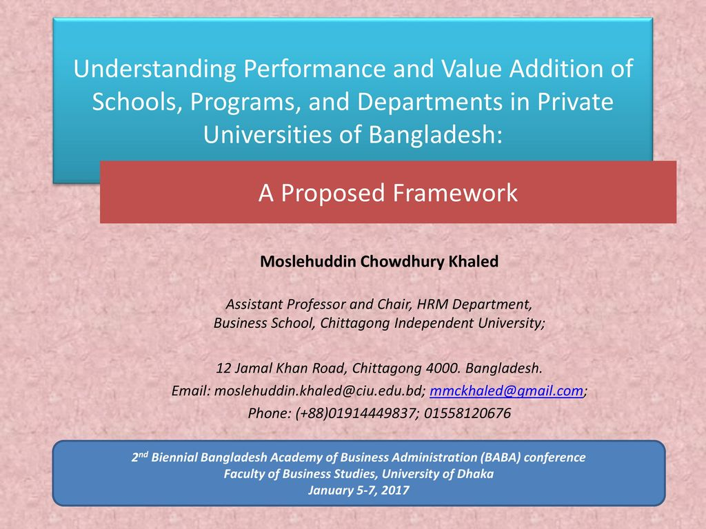 Understanding Performance and Value Addition of Schools, Programs