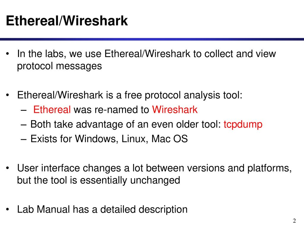 A Quick Guide to Ethereal/Wireshark - ppt download