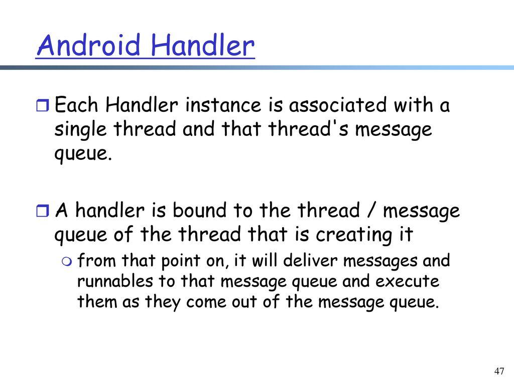 Mobile Software Development Framework: Android Activity