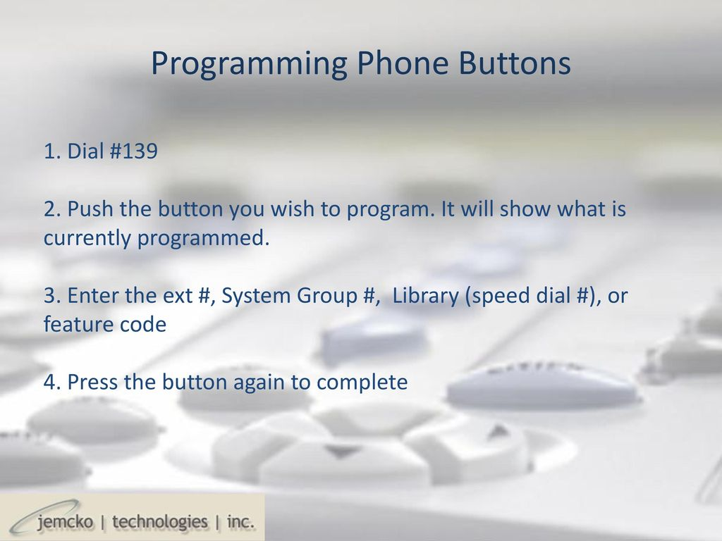 Programming Coral IPx Telephones - ppt download