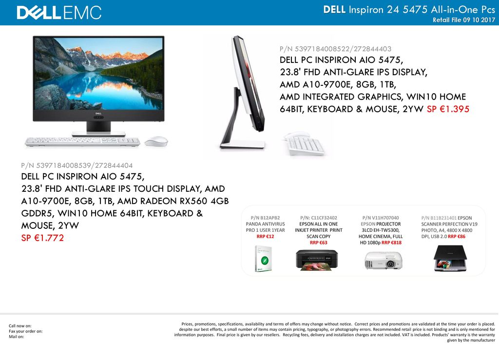 DELL Inspiron All-in-One Pcs - ppt download