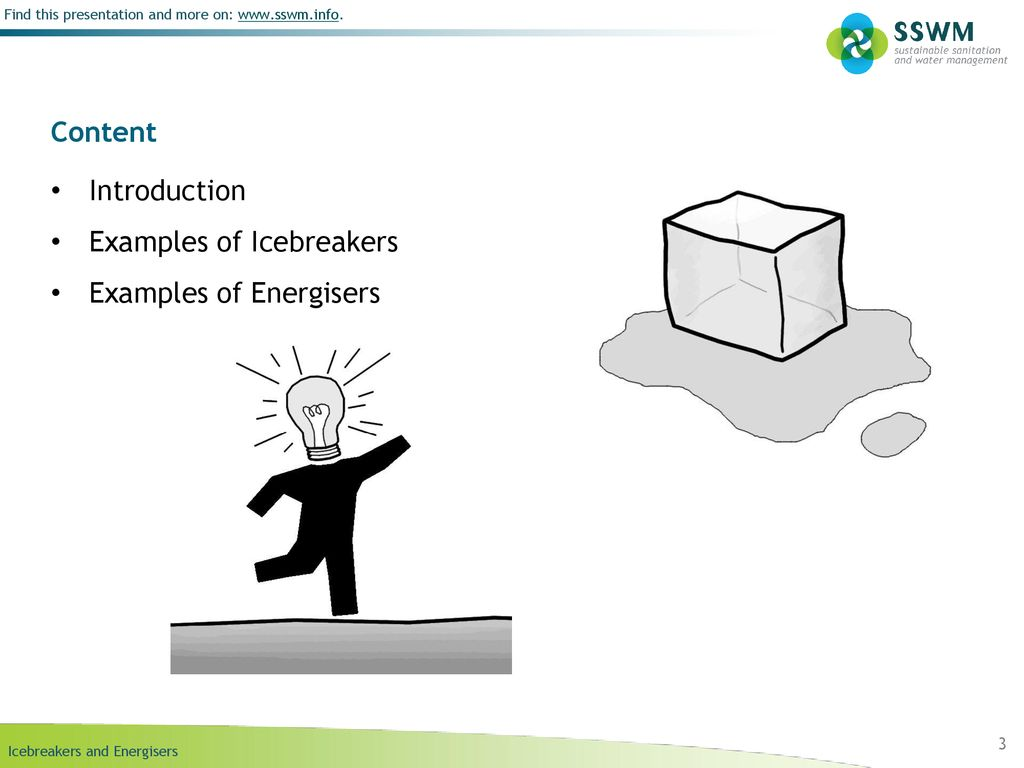 Presentation ice breakers examples.