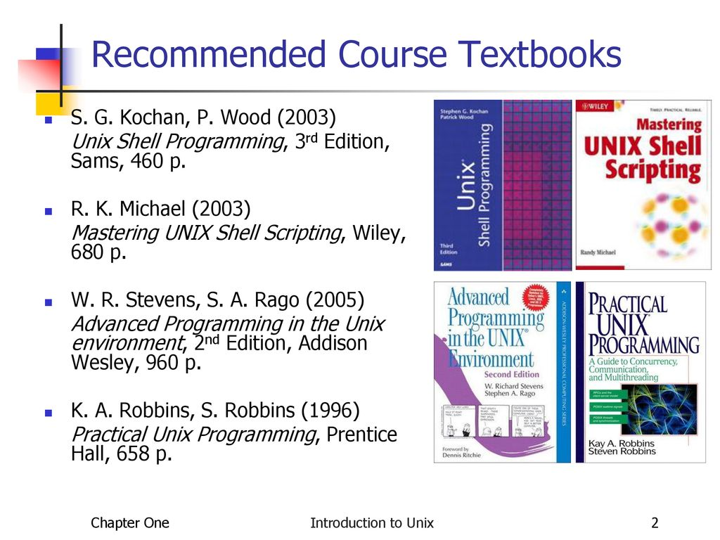 2 Recommended Course Textbooks