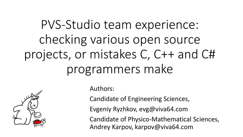 PVS-Studio team experience: checking various open source
