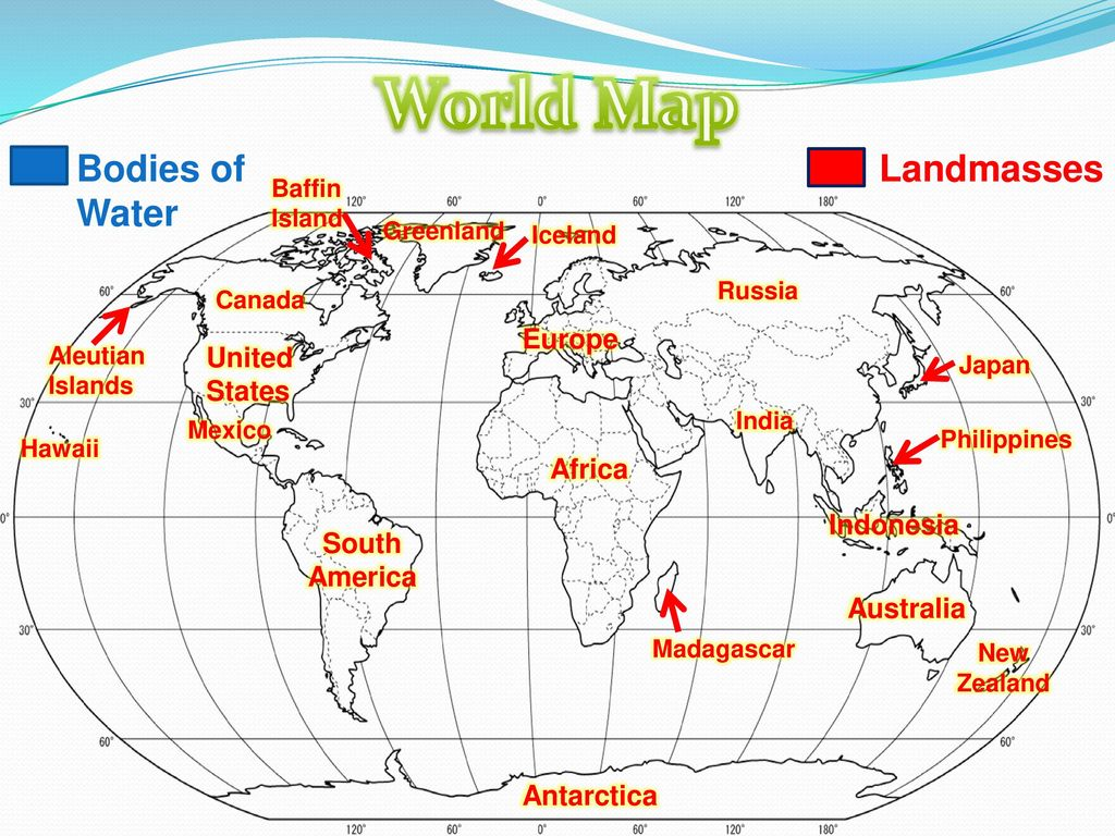 Bodies Of Water Canada Map.World Map Bodies Of Water Landmasses Ppt Download