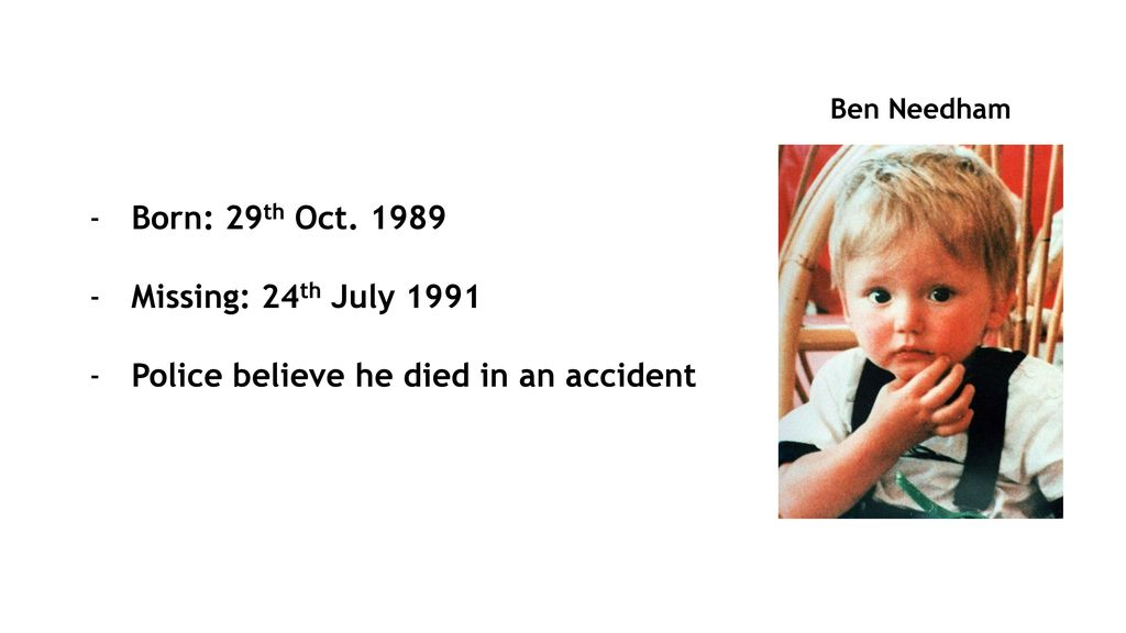 On Age Progression of Ben Needham's Face - ppt download