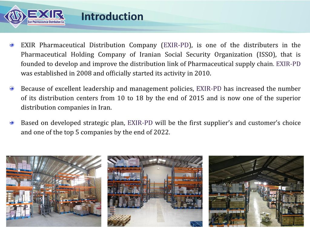 Introduction EXIR Pharmaceutical Distribution Company (EXIR