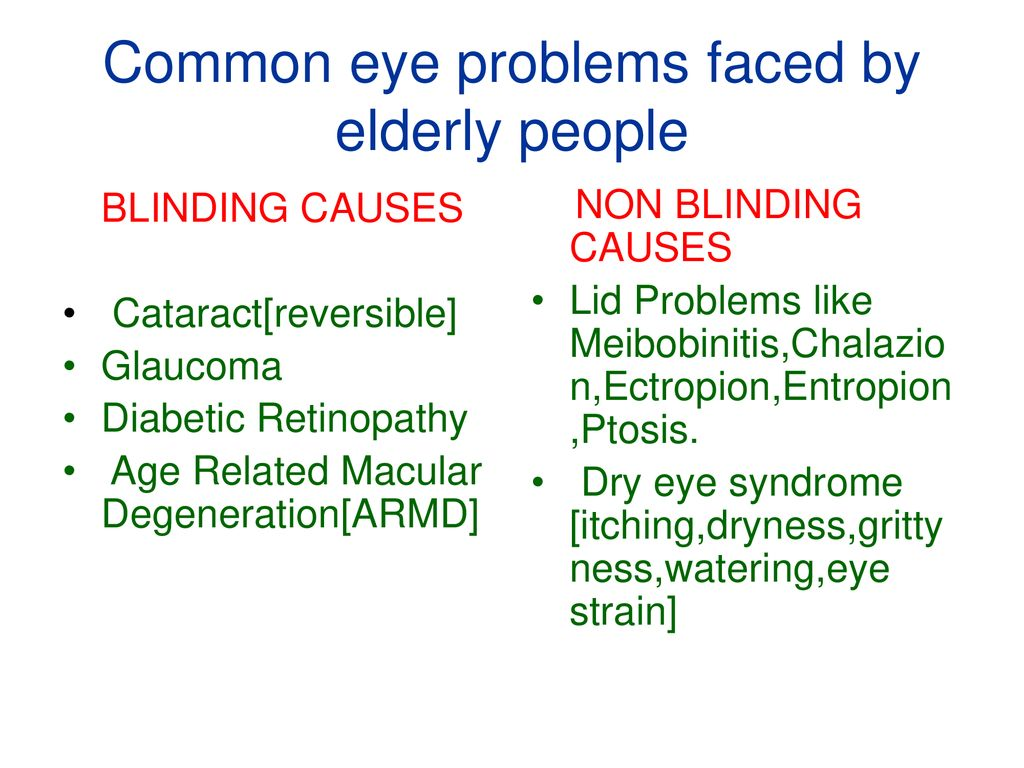 problems faced by elderly
