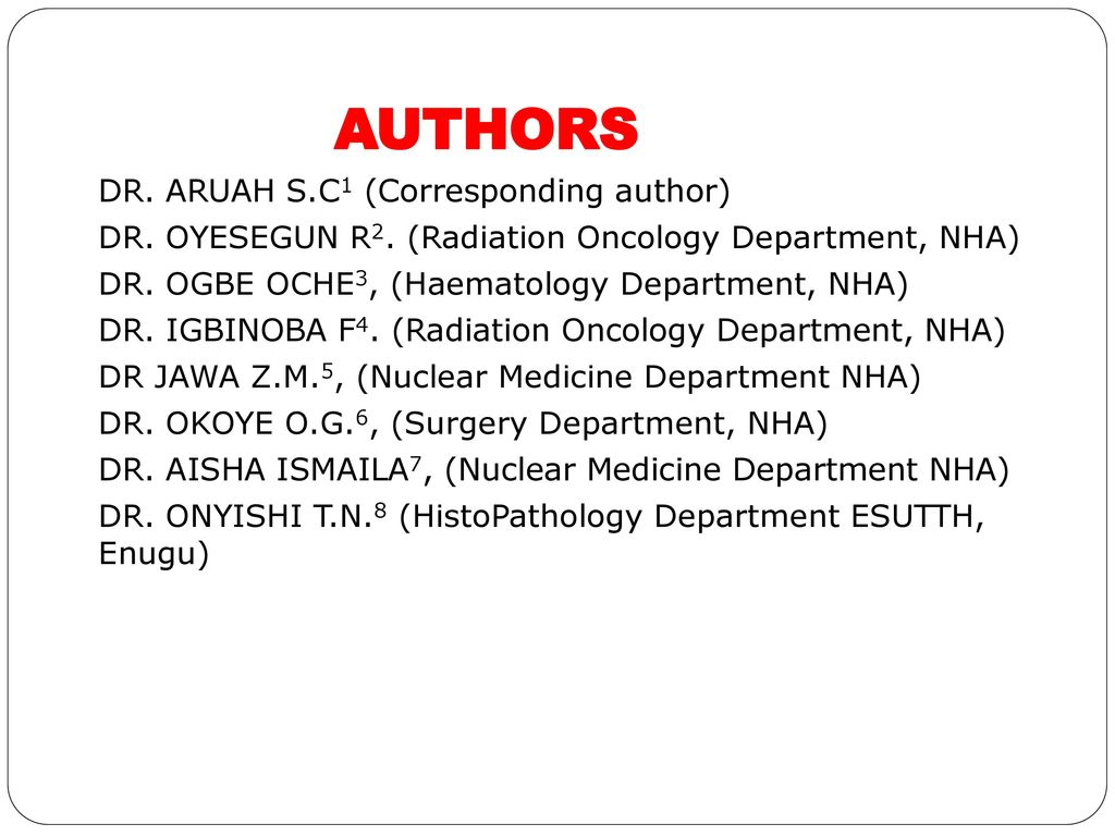 Dr. Chinedu Simeon Aruah: MD,MPH, FWACS - ppt download