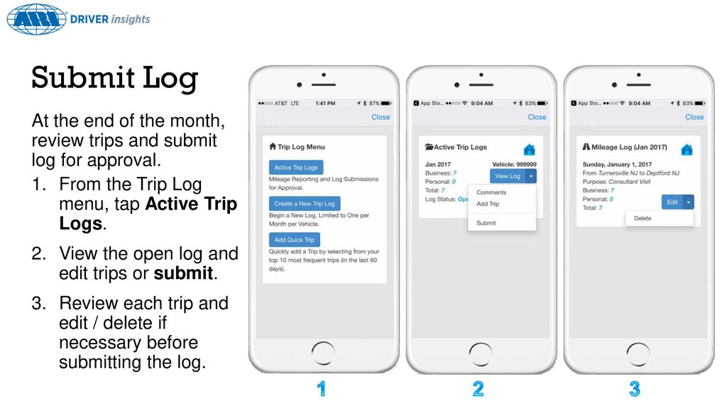 mobile trip log ppt download