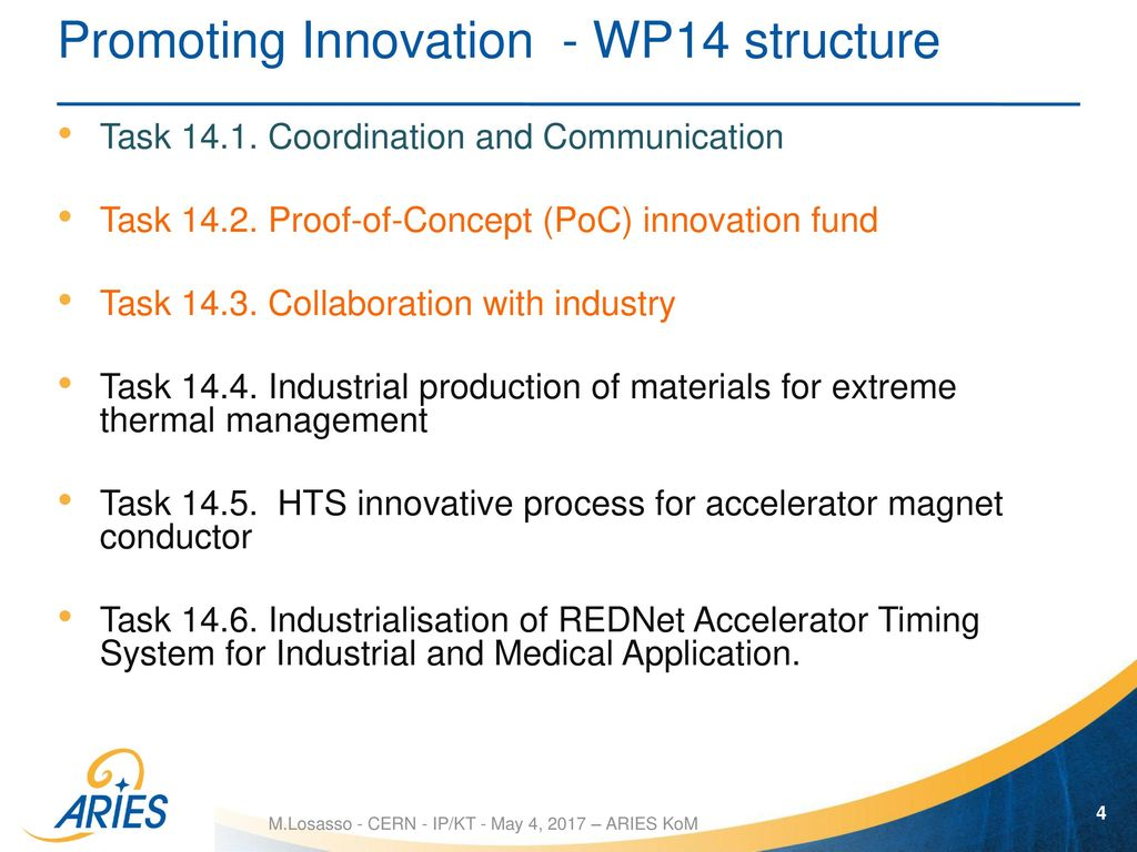 Promoting innovation with industry in WP14 - ppt download