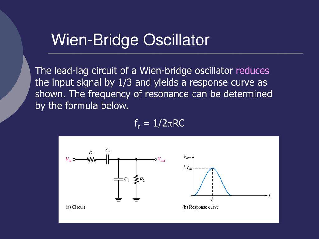 En Rosemizi Bin Abd Rahim Ppt Download For The Circuit And Also Determine Frequency Of Oscillations Wien Bridge Oscillator