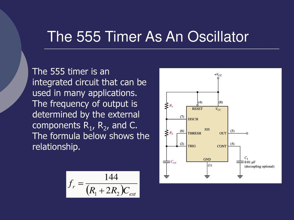 En Rosemizi Bin Abd Rahim Ppt Download 555 Timer Circuit Diagram Moreover Internal The As An Oscillator