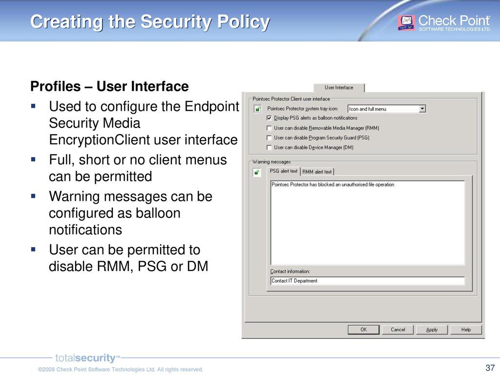 Check Point Endpoint Security - Media Encryption - ppt download