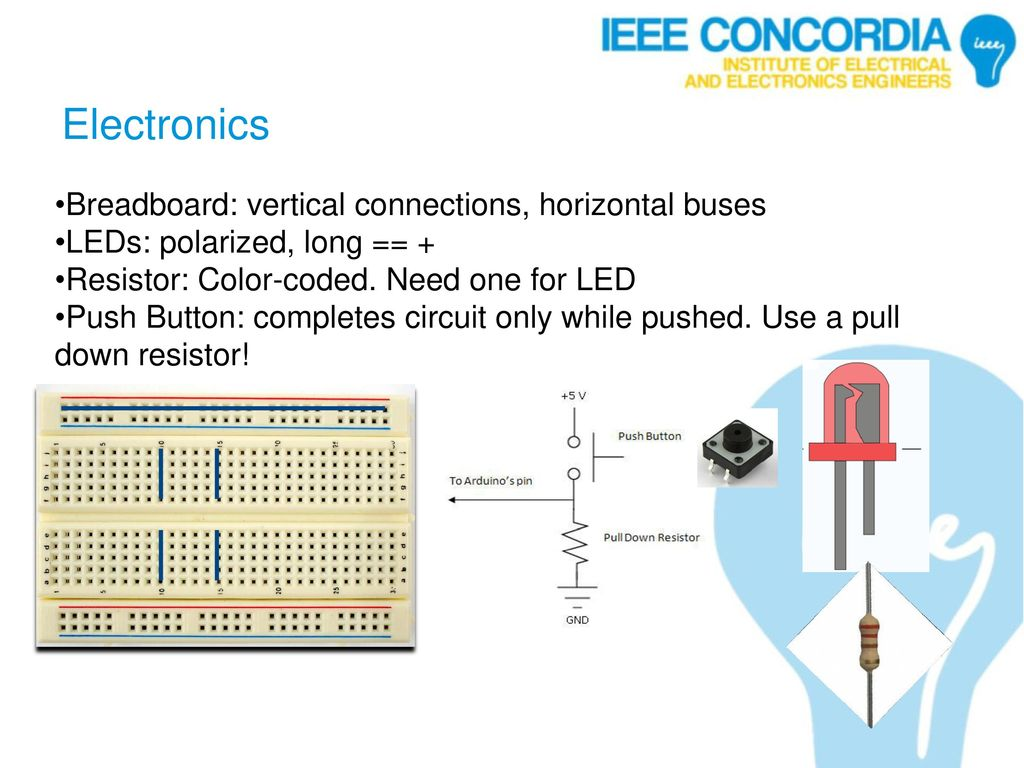 Microprocessors Tutorial 1 Arduino Basics Ppt Download Basic Electronics Tutorial2 How To Use Breadboard For Beginners 7