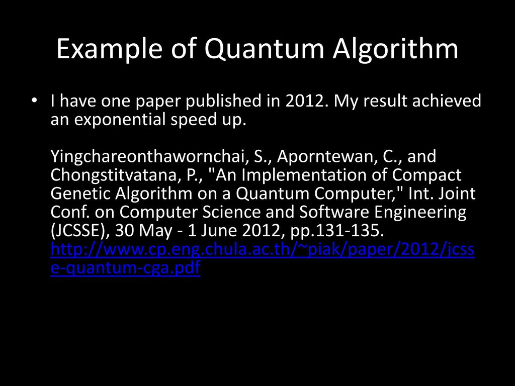 Quantum Computing: an introduction - ppt download