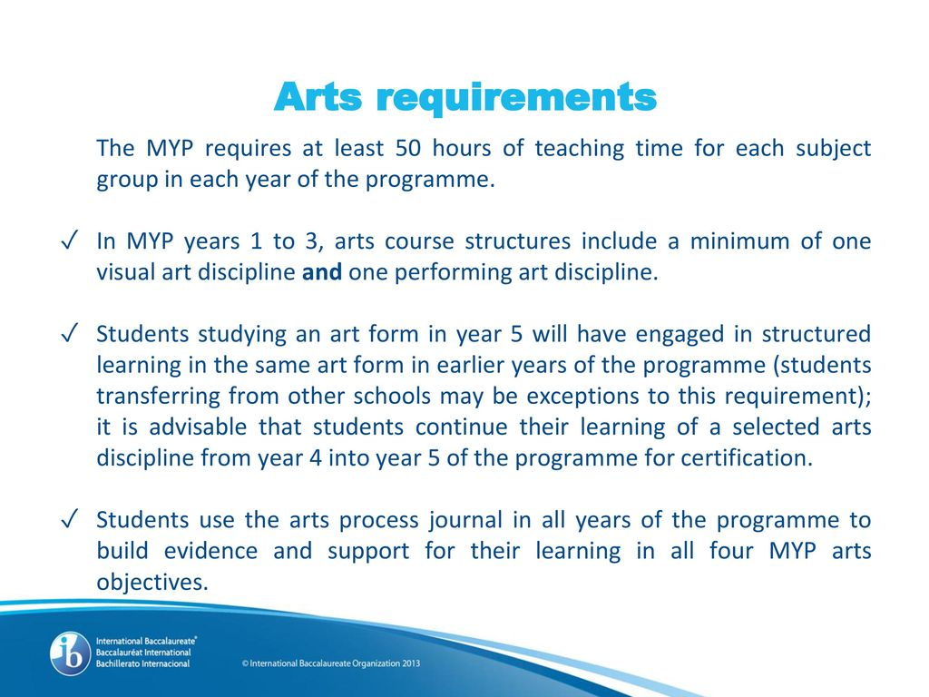 Implementing the MYP: Arts - ppt download