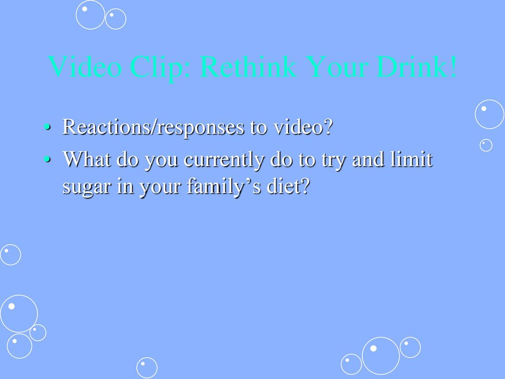 Video Clip: Rethink Your Drink!