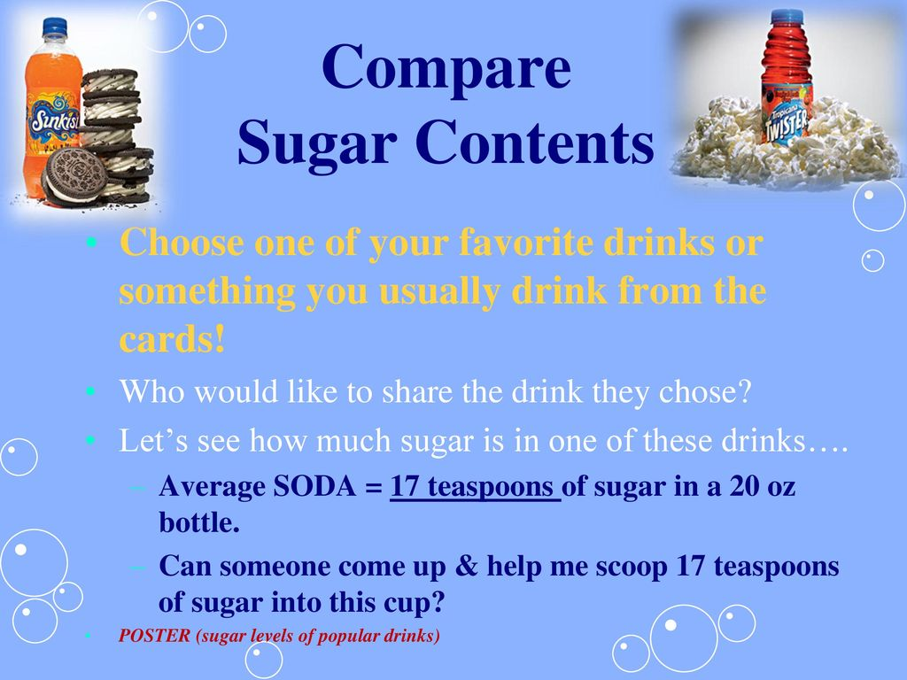 Compare Sugar Contents