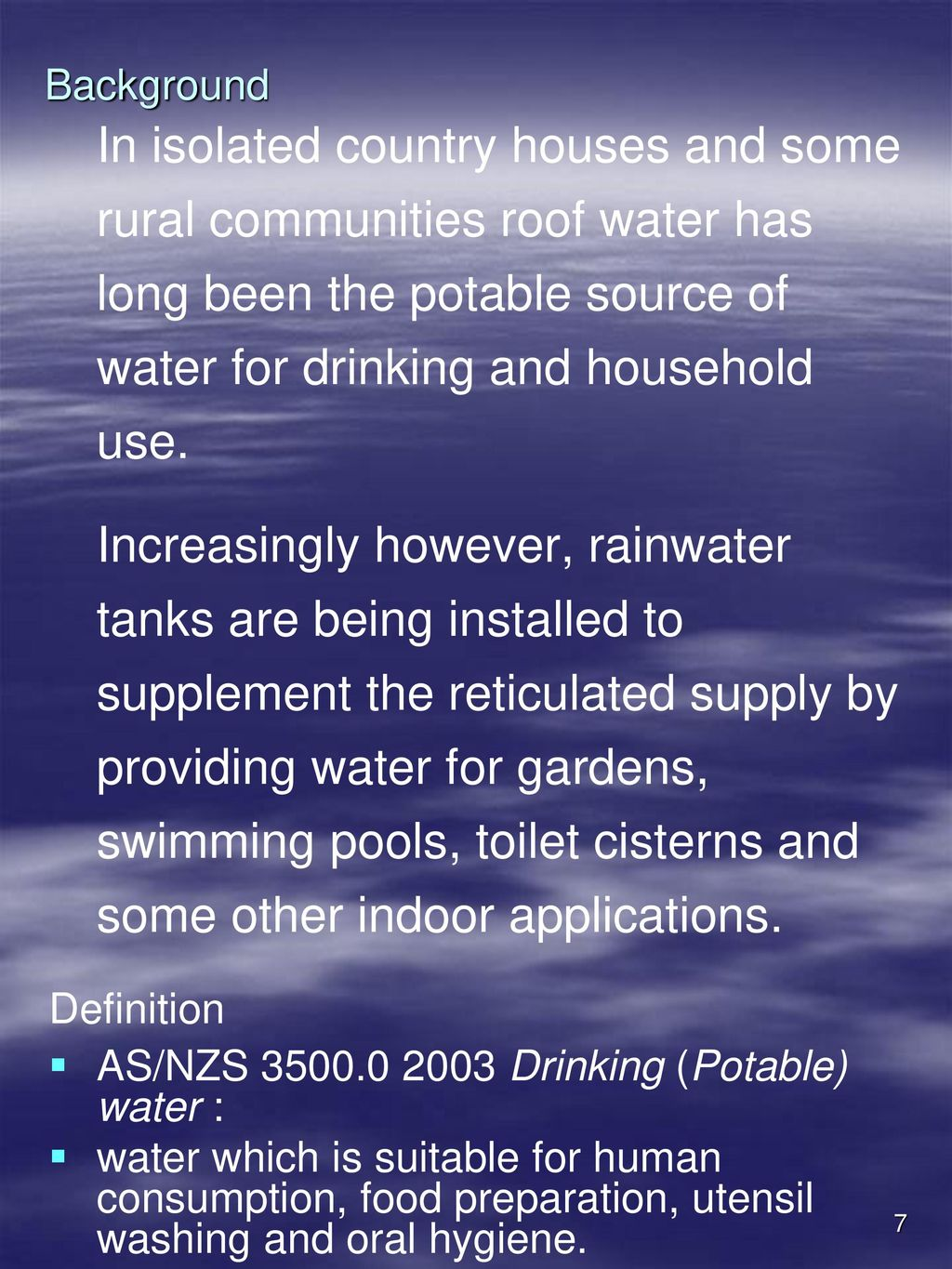 CPCPRF2003A Collect & Store Roof Water - ppt download