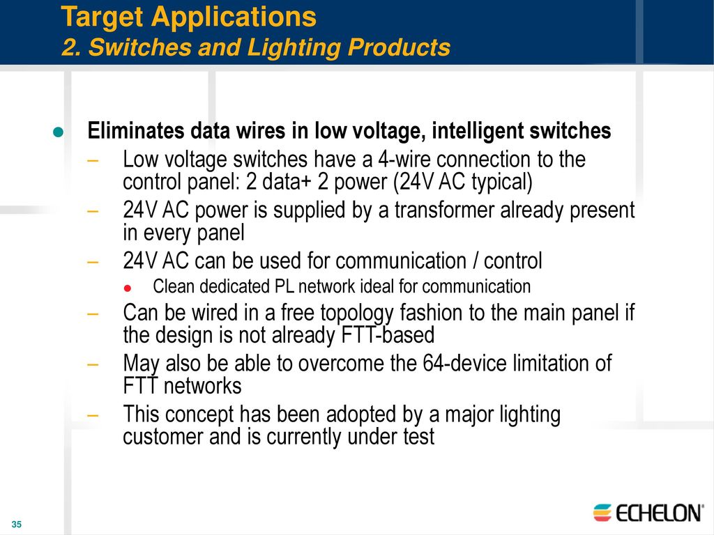 Free Topology Power Line Smart Transceivers Ppt Download Ac Voltage Switch Wiring Switches And Lighting Products