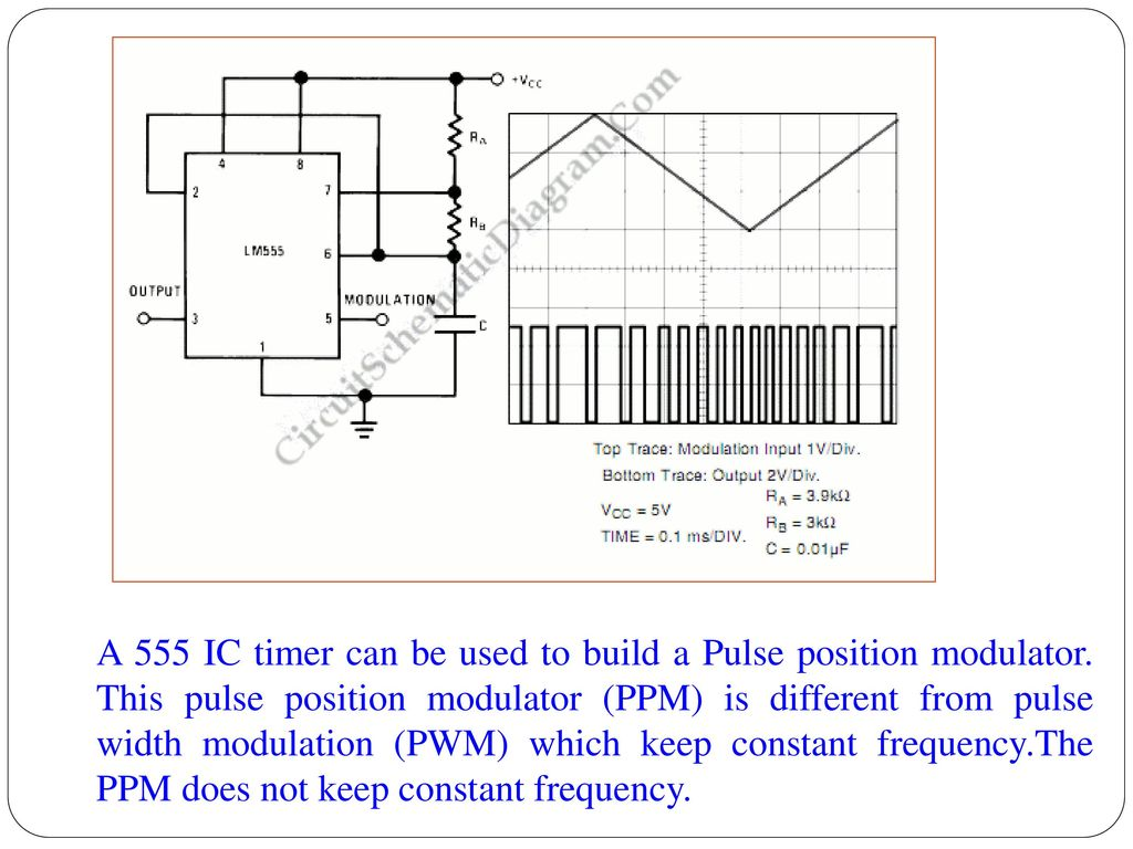 Unit Iv Application Of Special Ics Ppt Download 555timermotorspeedcontrollercircuitjpg A 555 Ic Timer Can Be Used To Build Pulse Position Modulator