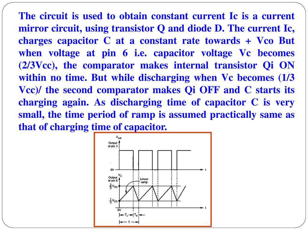 Unit Iv Application Of Special Ics Ppt Download Astable Multivibrator Using Transistors Transistorised Circuit Wave The Is Used To Obtain Constant Current Ic A Mirror