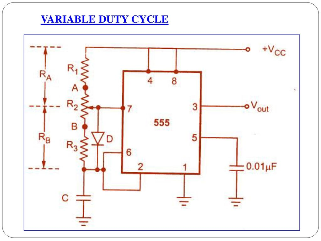 Unit Iv Application Of Special Ics Ppt Download 555 Circuitjpg 38 Variable Duty Cycle