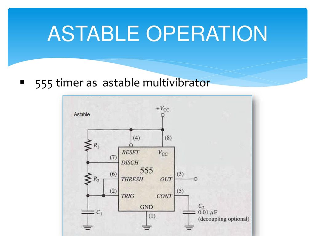 B H Gardi College Of Engg Tech Analog Electronics Ppt Download 555 Timer Ic As Astable Multivibrator 5 Operation