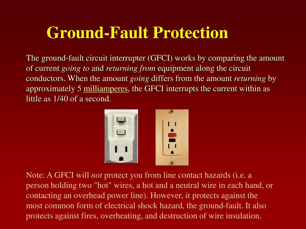 General Electrical Safety Ppt Download Ground Fault Circuit Interrupter Outlet This Type Of 14 Protection