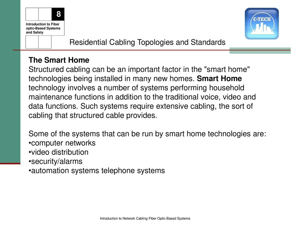 Introduction To Network Cabling Ppt Download Home Structured Wiring Systems Residential Topologies And Standards