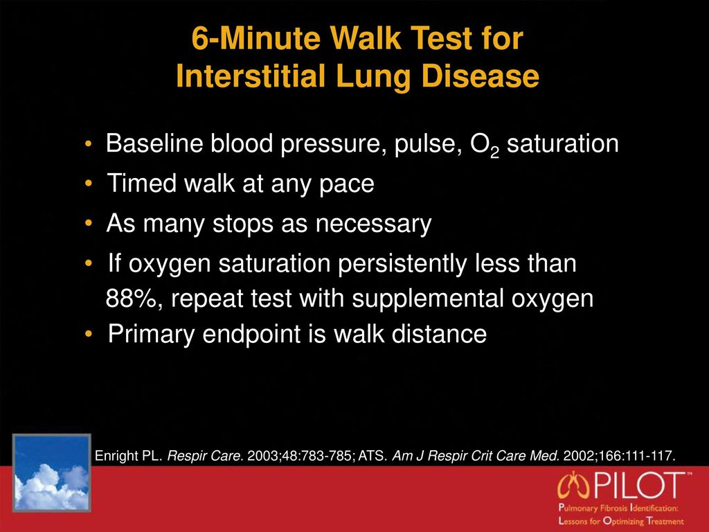 6 Minute Walk Test For Inters Ial Lung Disease