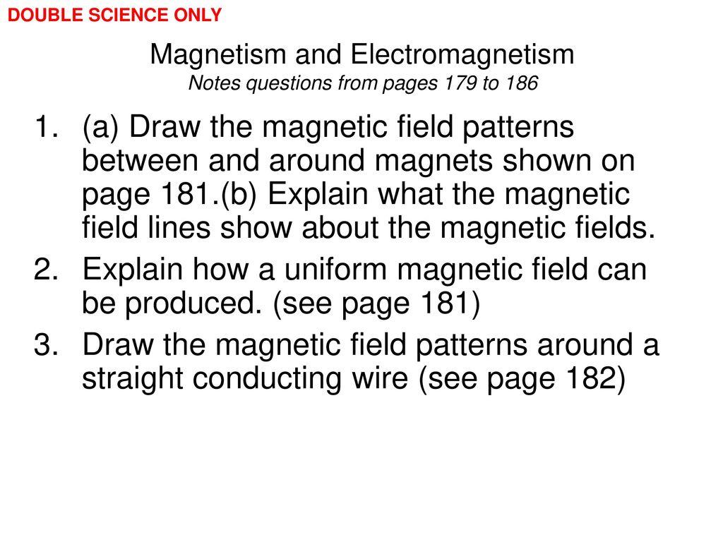 Magnetism and Electromagnetism - ppt download