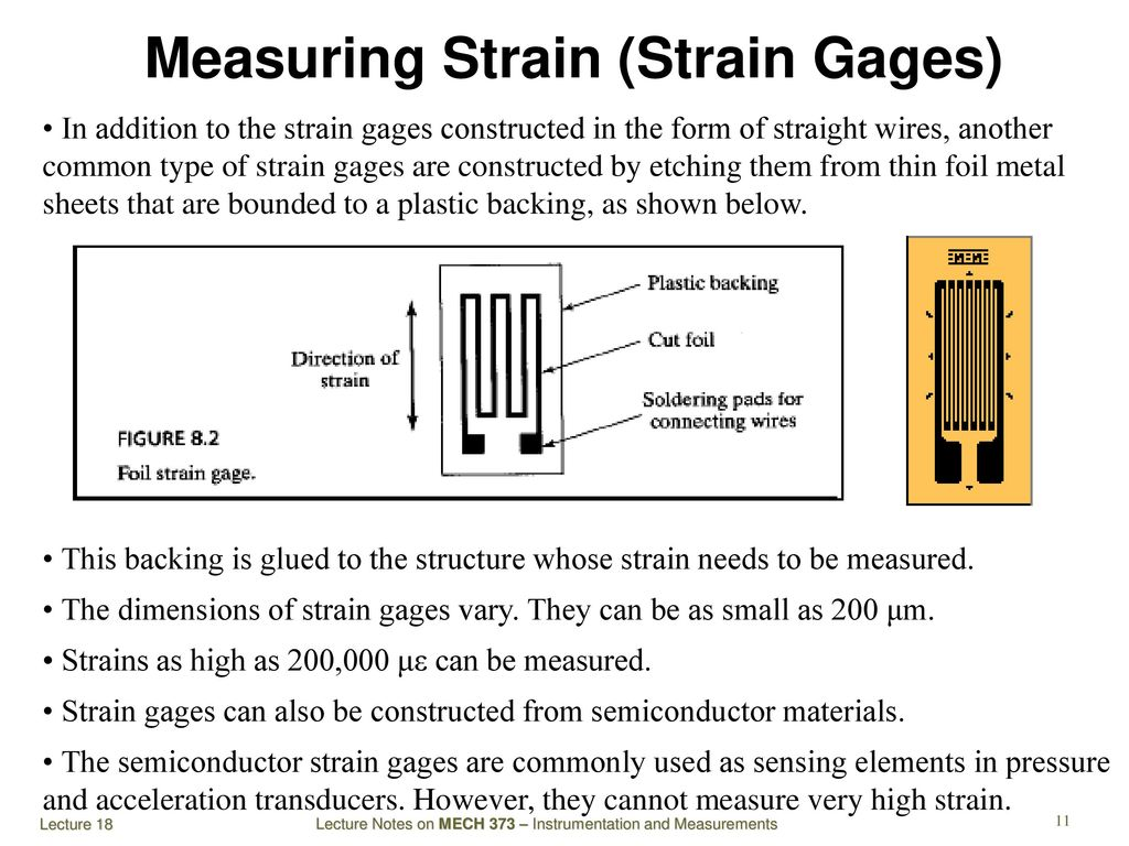 Mech 373 Instrumentation And Measurements Ppt Download Strain Gage Wiring Diagram Measuring Gages