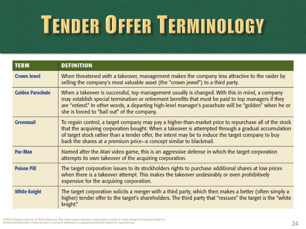 Chapter 41: Mergers and Takeovers - ppt download
