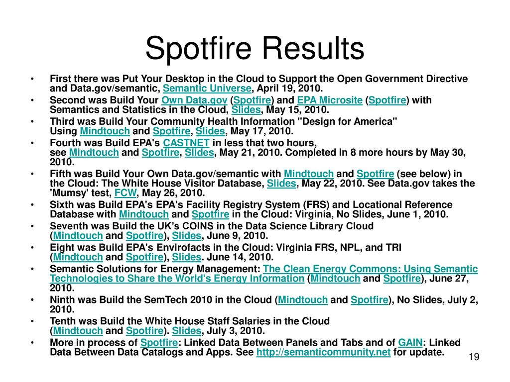 I Like Spotfire on Facebook and Twitter and Linked Data on