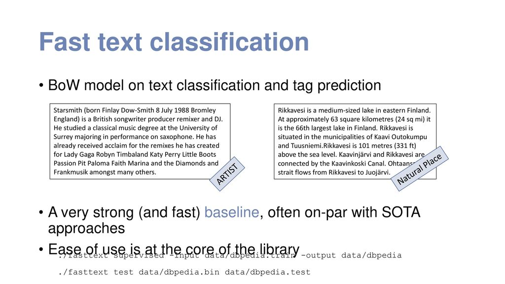 a library for efficient text classification and word