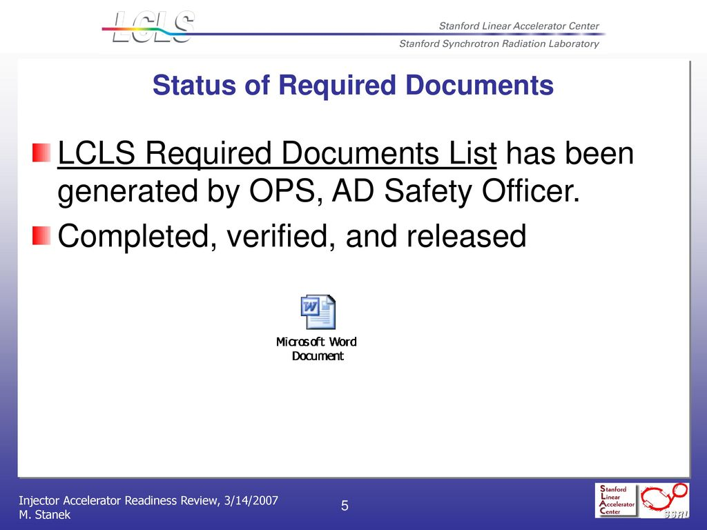 Accelerator Operations Department Readiness (Part 2) - ppt