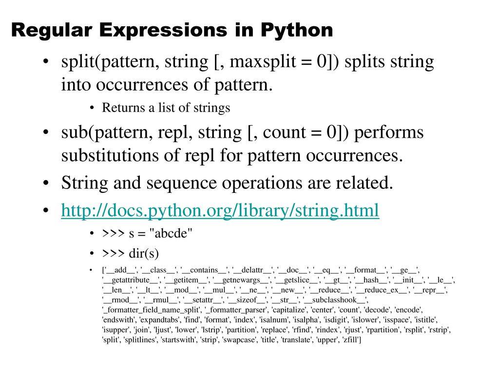 Regular Expressions in Python