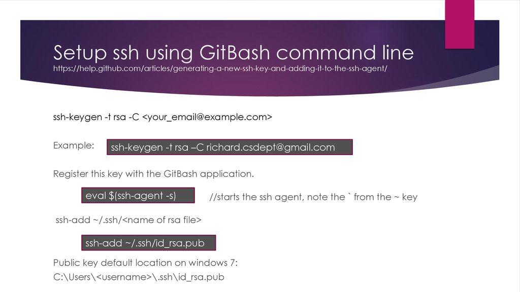 windows git bash ssh key agent