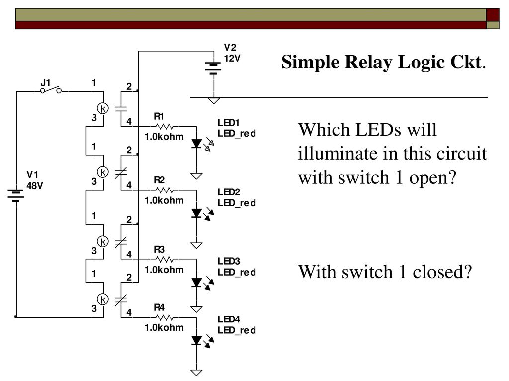 Relay Logic Ppt Download What Is A Simple Switch 6 Ckt Which