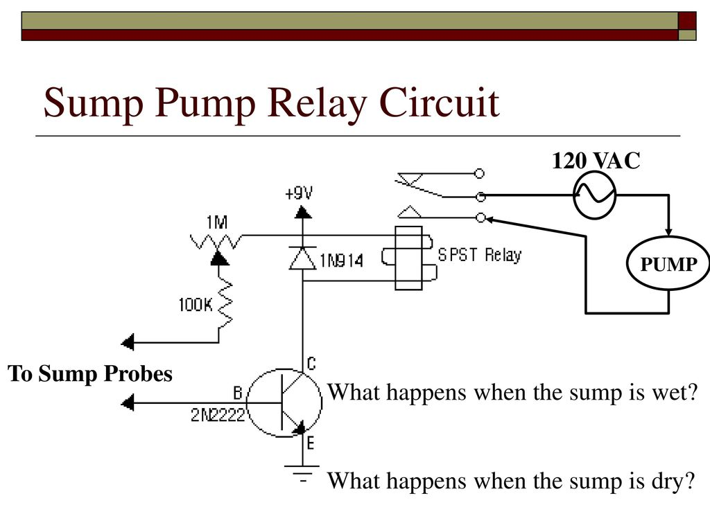 Relay Logic Ppt Download Circuit And Working Sump Pump