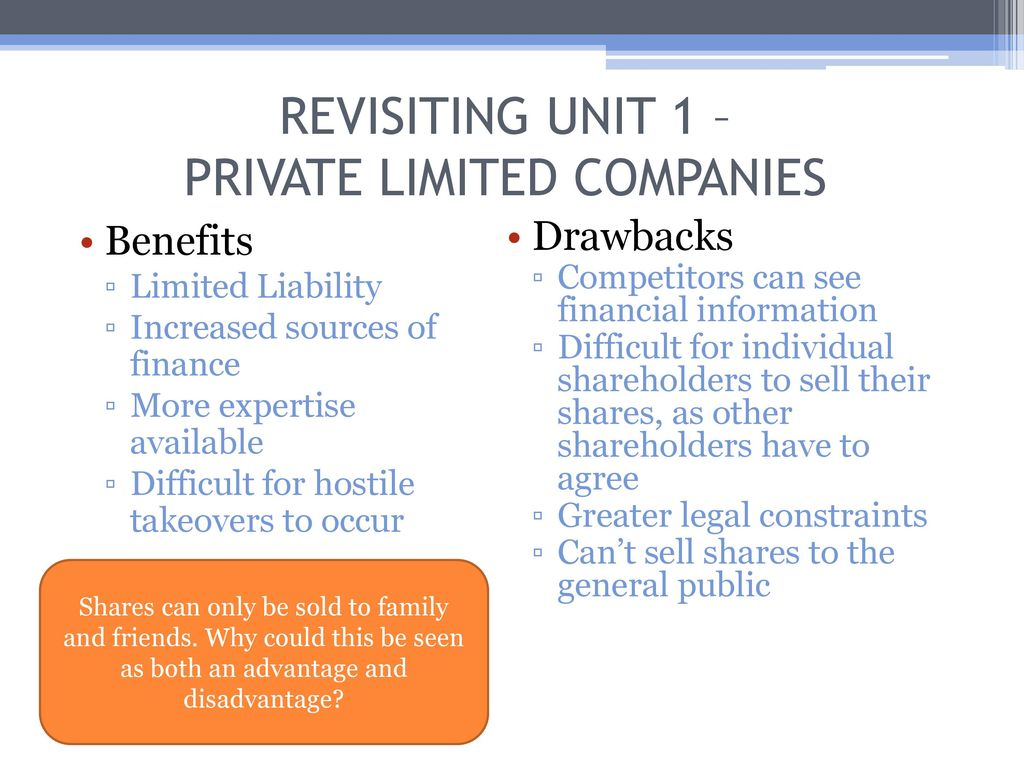 sources of finance for a private limited company